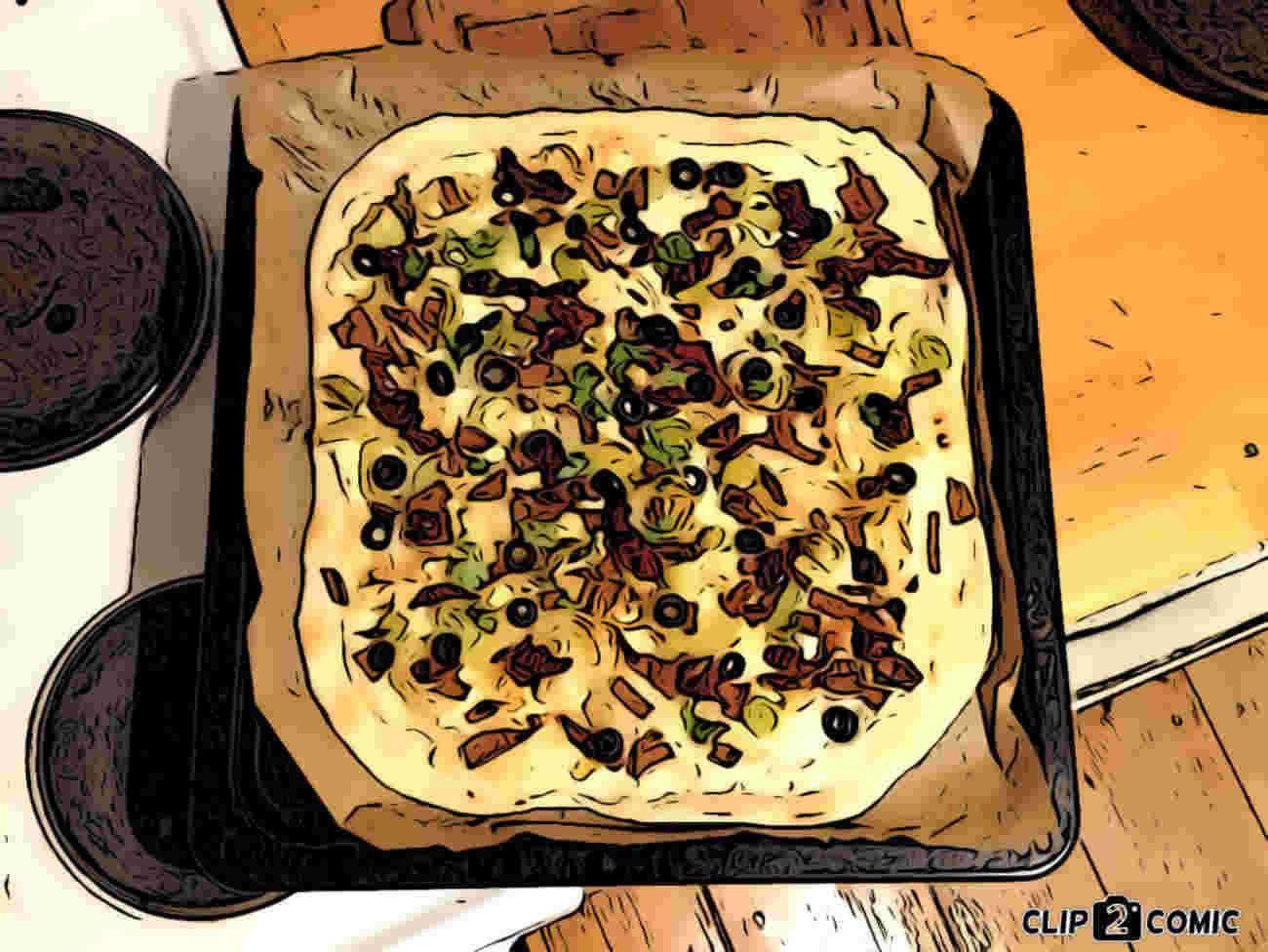 Veganer Flammkuchen frisch aus dem Ofen ohne Hefe. Schnell gemacht in nur einer Stunde mit Soja und Seitan. Veganes Rezept.