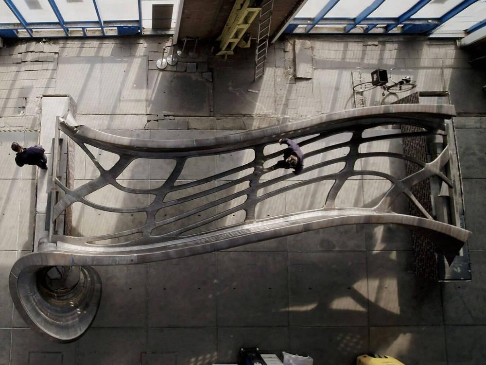 Die erste Stahlbrücke aus dem 3D-Drucker vom Startup MX3D.