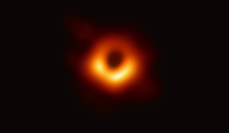 Foto eines schwarzen Loches.