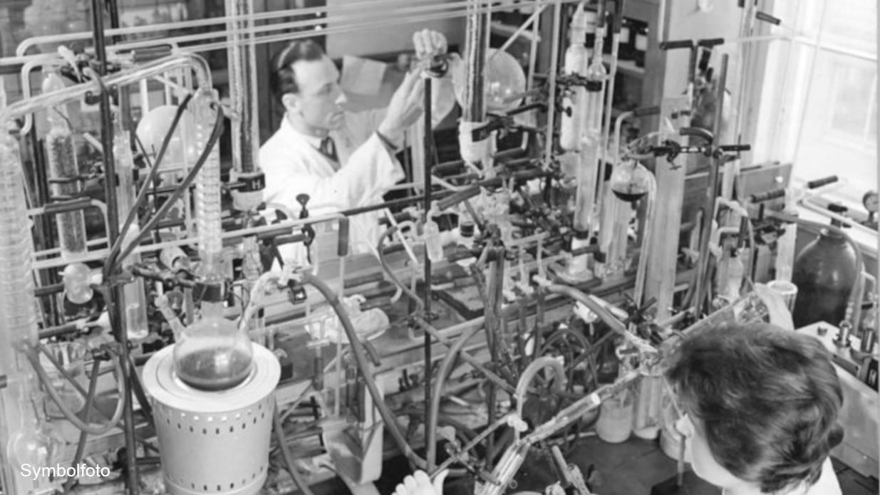Labor einer Forschungsstelle für Komplexchemie.