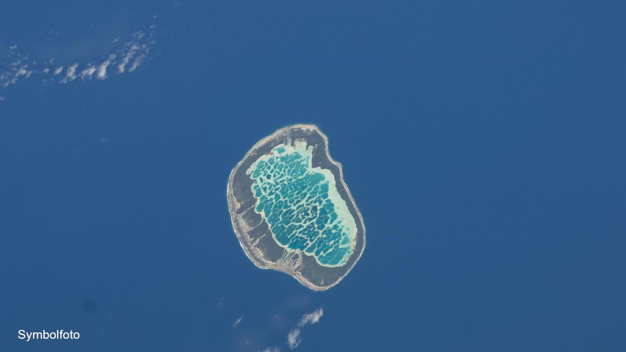 Mataiva-Atoll aufgenommen von der Internationalen Raumstation ISS.