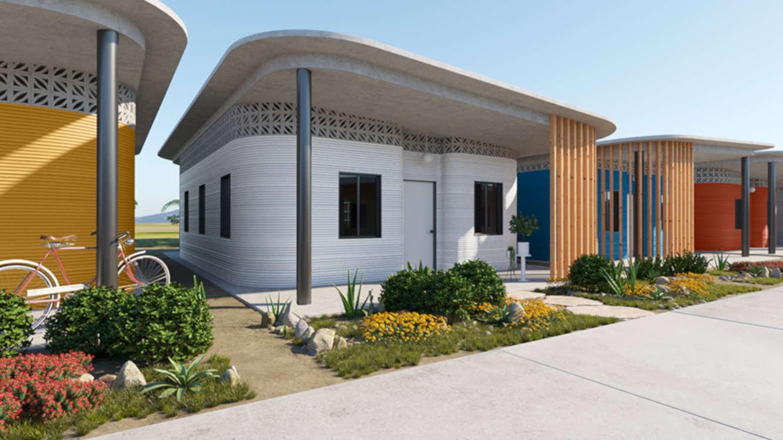 Geplante Siedlung in Lateinamerika mit Häusern aus dem 3D-Drucker