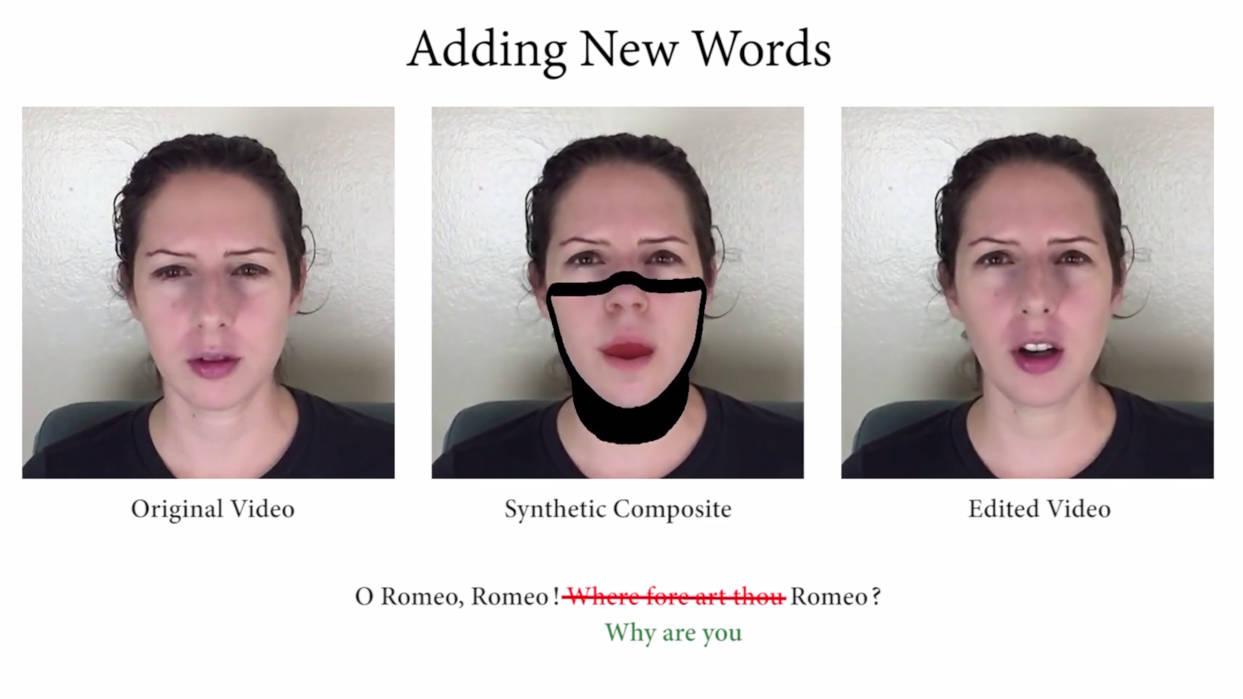 Neuer Algorithmus ermöglicht textbasierte Videobearbeitung.