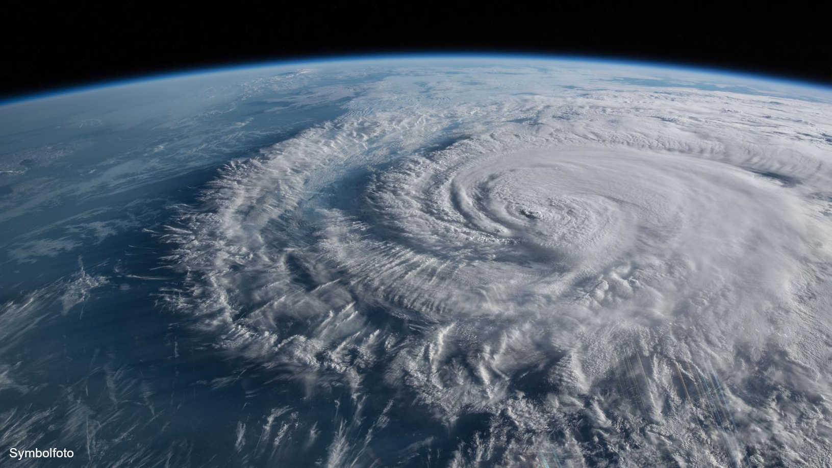 Hurrikan Florence von der Internationalen Raumstation aus aufgenommen.