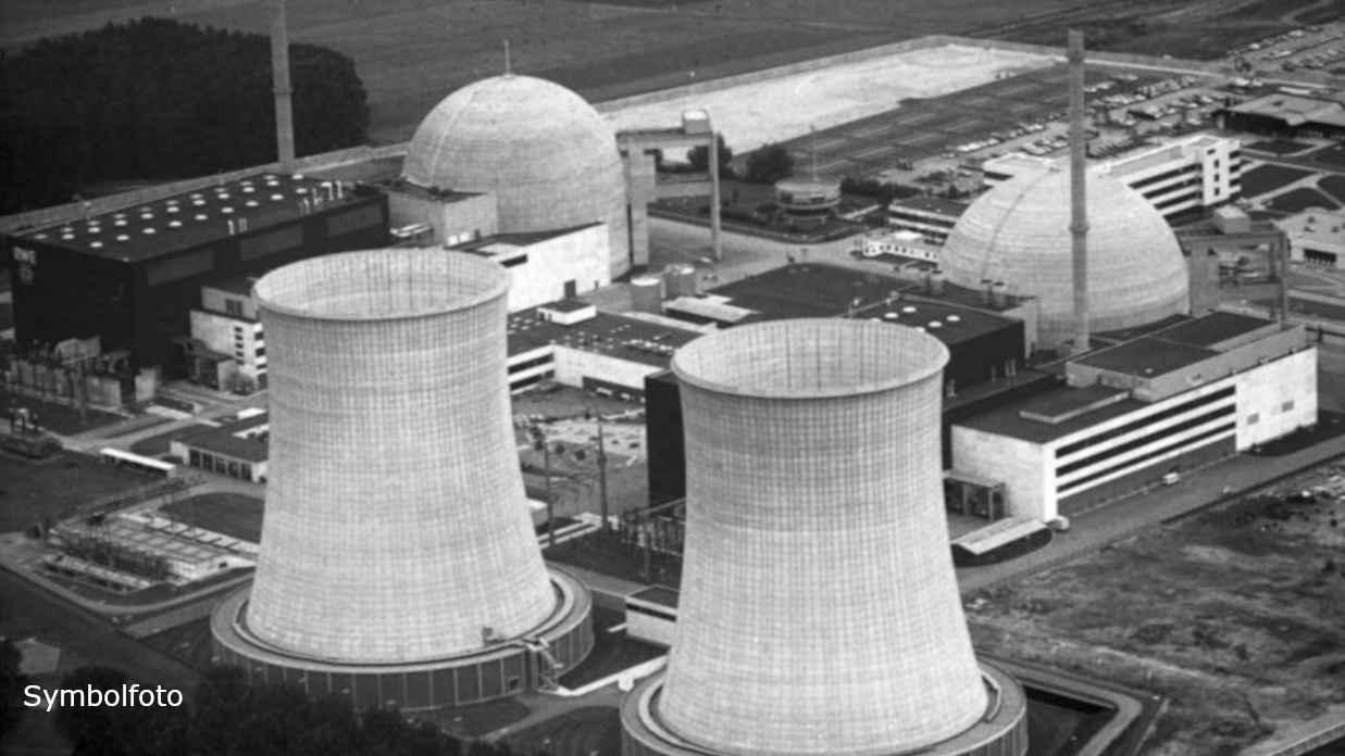 Luftaufnahme des Atomkraftwerkes Biblis