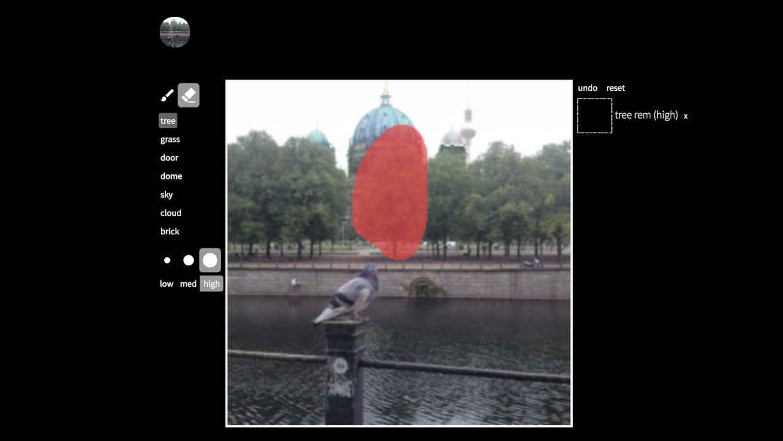 Künstlich intelligente Bildbearbeitung mit GANPaint.