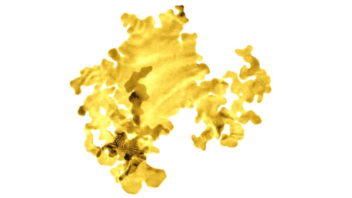 Die dünnste Goldfolie der Welt bewegt sich im Nanobereich