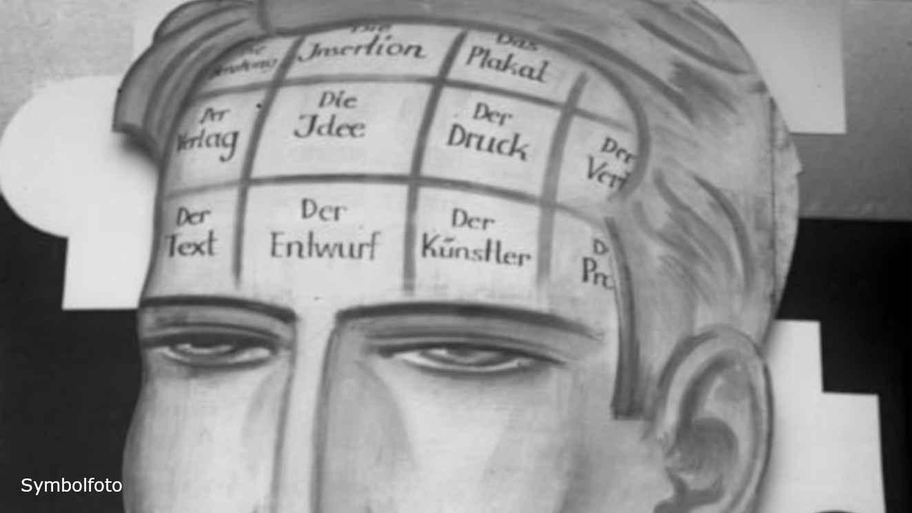 So hat man sich im Jahr 1929 das Gehirn eines Reklamefachmannes vorgestellt.