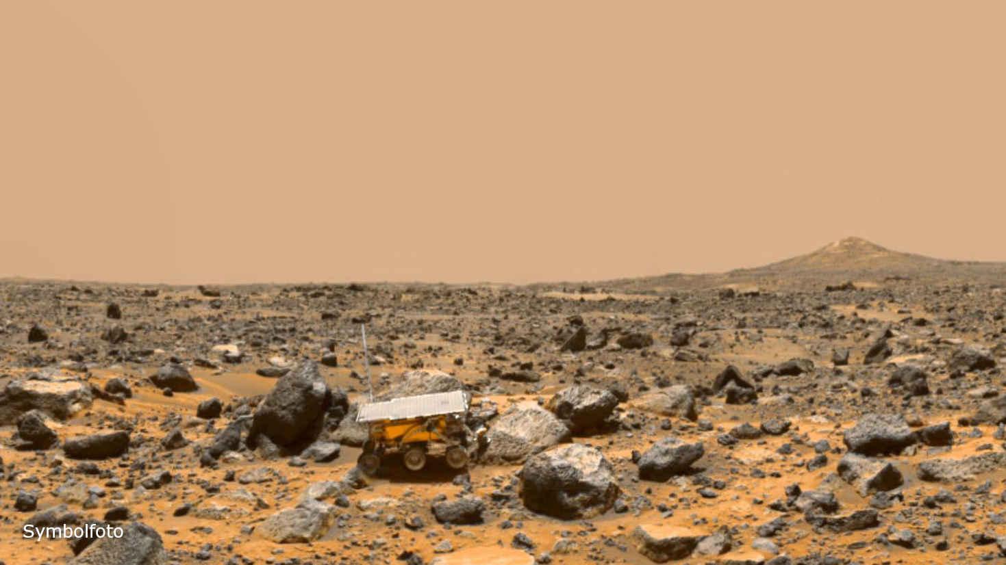 Der Pathfinder der NASA auf der Mars-Oberfläche.