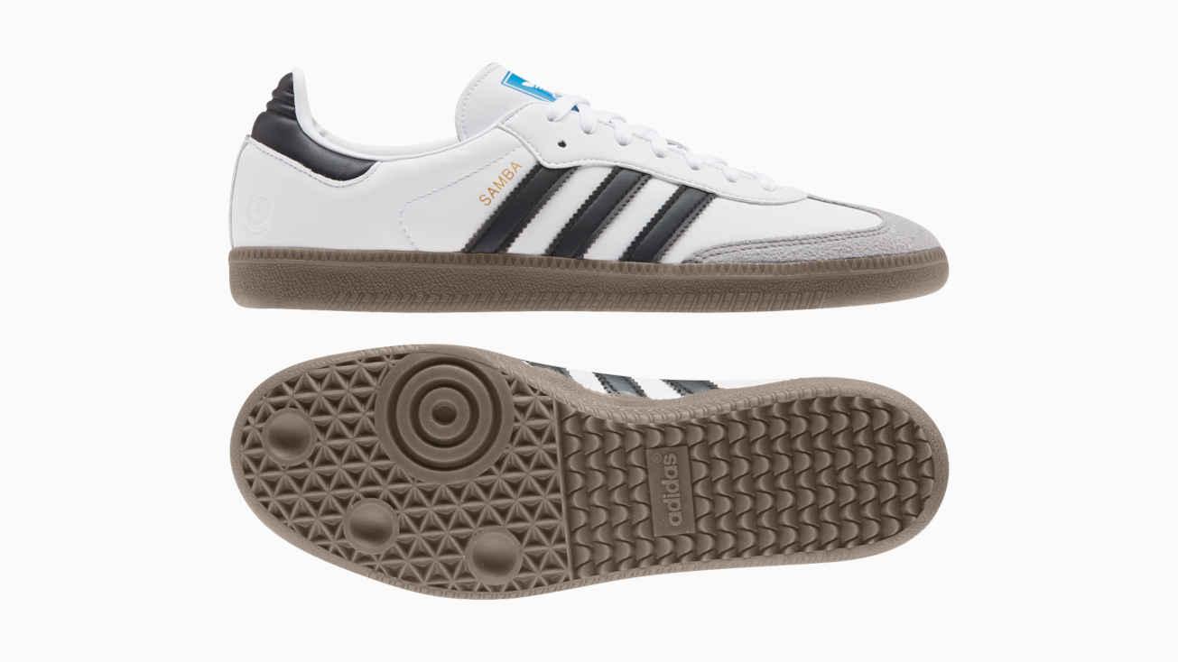 Vegane Sneaker von adidas: Samba Vegan Schuh in Weiß.
